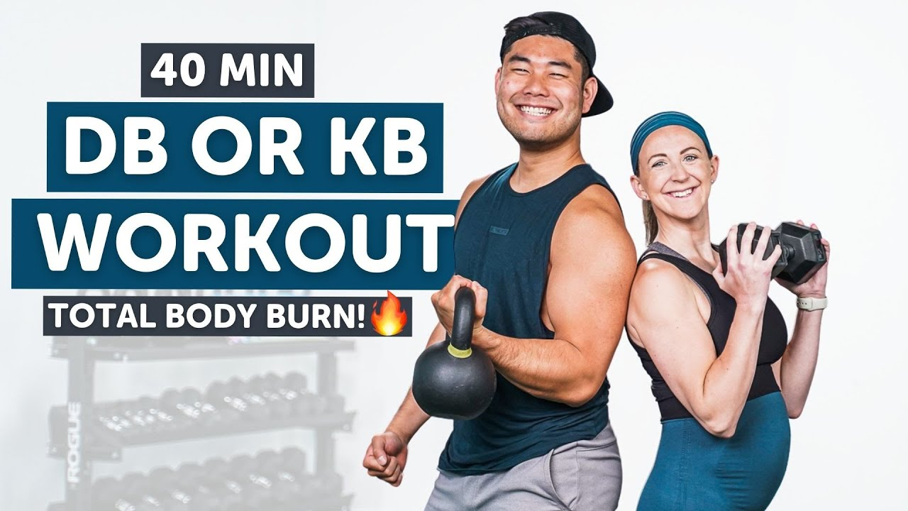 Download 40 Minute Full Body Dumbbell Workout At Home!