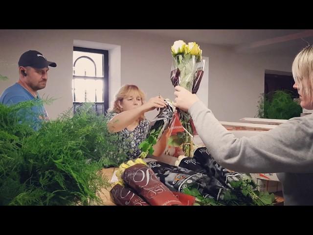 Bulduru floristi rotā Aglonu pāvesta vizītei - 1. diena