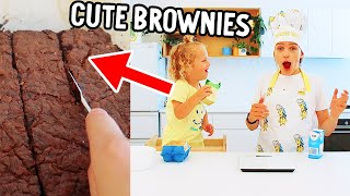 DISCO AND SOCKIE MAKE BROWNIES TOGETHER (cute)