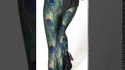 New Peacock Style 3D Printed Leggings/Yoga Pants with High Elasticity