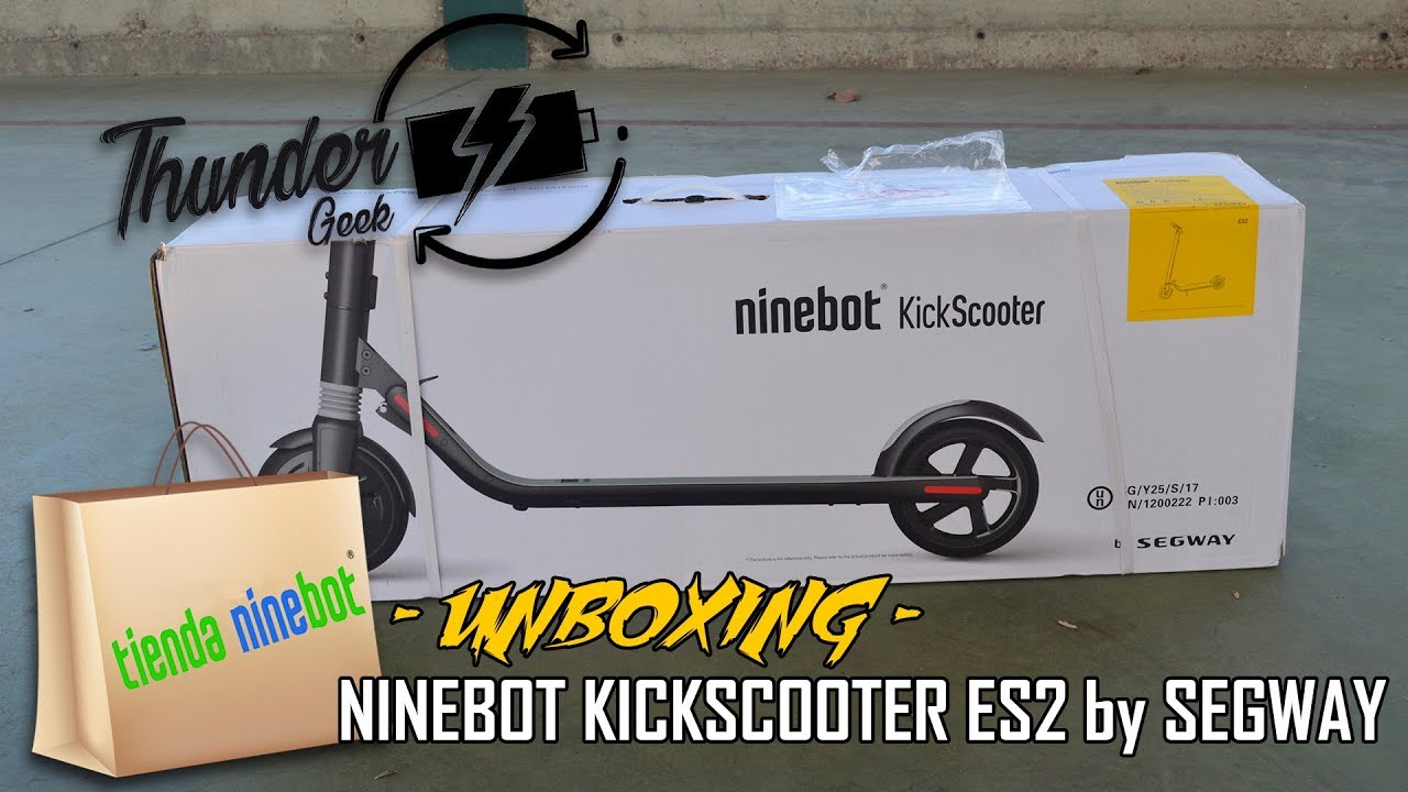 unboxing ninebot kickscooter es2 by segway youtube. Black Bedroom Furniture Sets. Home Design Ideas