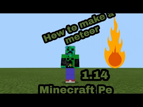 How To Make A Meteor In Minecraft Pe|iOS|android|Minecraft Pe|simple