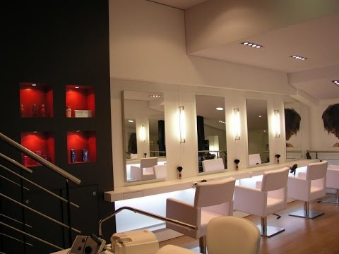Hair Salon Decorating Ideas USA by 13grades - YouTube
