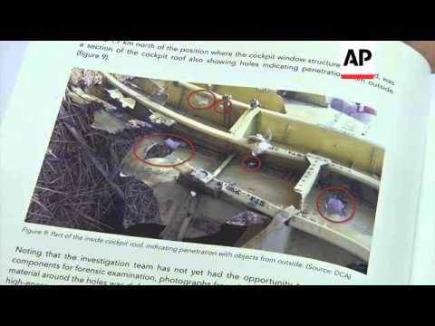 "Malaysia Airlines Flight 17 was likely struck by multiple ""high-energy objects from outside the airc"