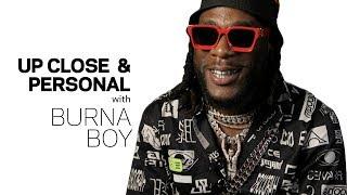 Burna Boy Talks 'African Giant,' Damian Marley & Angélique Kidjo Collab | Up Close & Personal