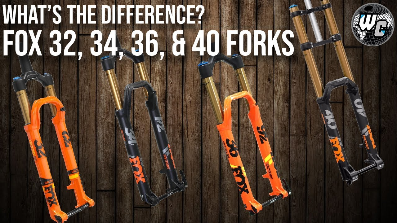 Fox 32, 34, 36, and 40 Forks   What's the Difference???