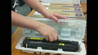 How to install SQUIRREL 410A toner cartridge for HP M477fdn M477fdw M477fnw M452dn Printer