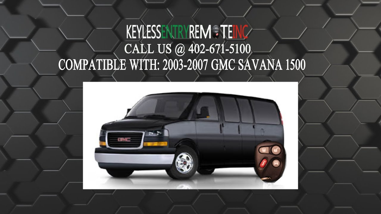 How to replace gmc savana 1500 key fob battery 2003 2004 2005 2006 2007