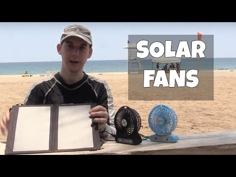 Small fans powered directly by solar panel