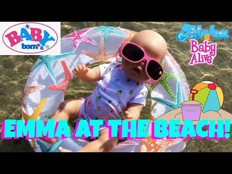🏖Baby Born Emma is Having Fun at The Beach!!! Skye & Caden Explore the Beach & Find Sea Creatures🦀