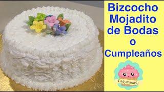 Curso de Repostería Básica Video # 7 - Bizcocho Mojadito para Bodas o Cumpleaños