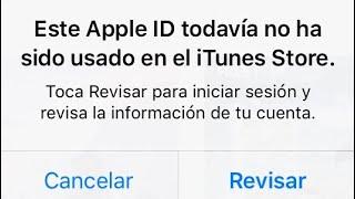 Este apple ID no ah Sido usado en iTunes (Solución Paso a paso)