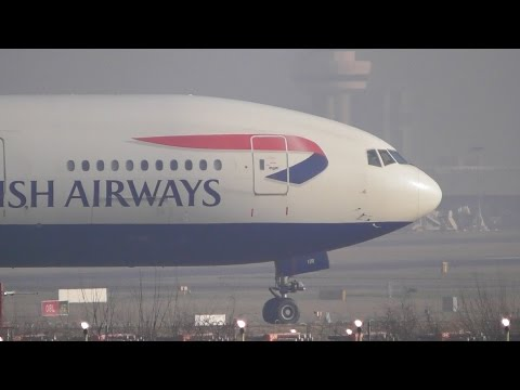 Winter Morning Plane Spotting at Gatwick Airport, LGW - Part 1