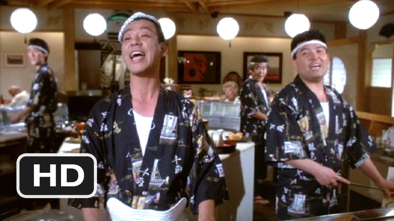 defending your life 1991 friendly sushi scene 38