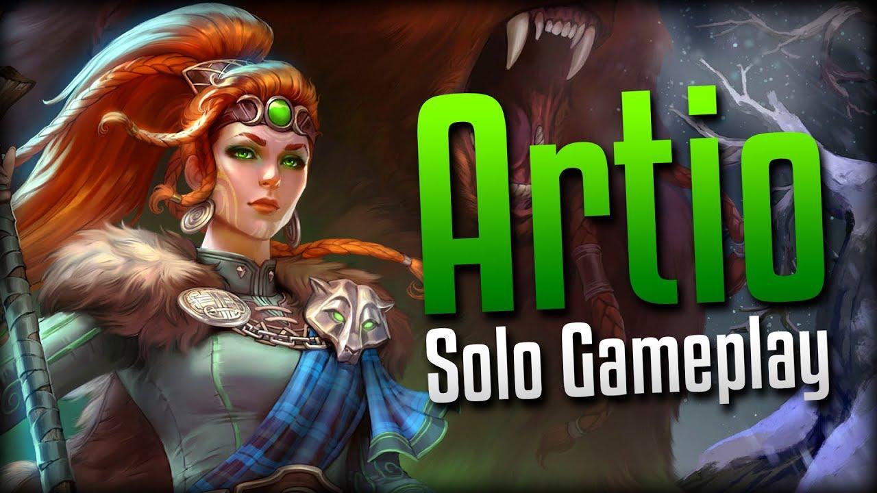 Smite I Own The Solo Lane Artio Solo Gameplay Youtube