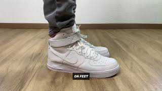 Nike Air Force 1 High x ALYX 'triple white' | UNBOXING & ON FEET | fashion shoes | 2020