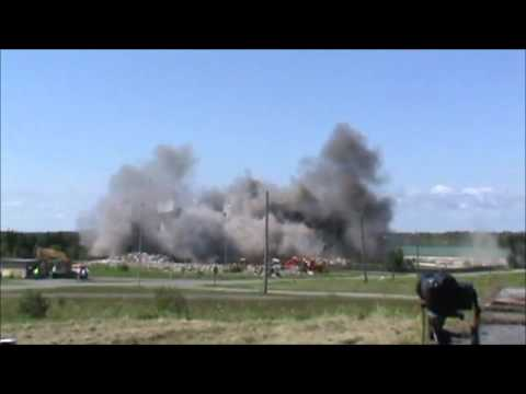 Loring Air Force Base Implosion Limestone, Maine 8/13/2011