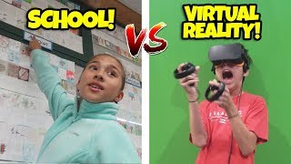 GOODBYE SCHOOL!!! Classroom Tour & Evan's VR Challenge!