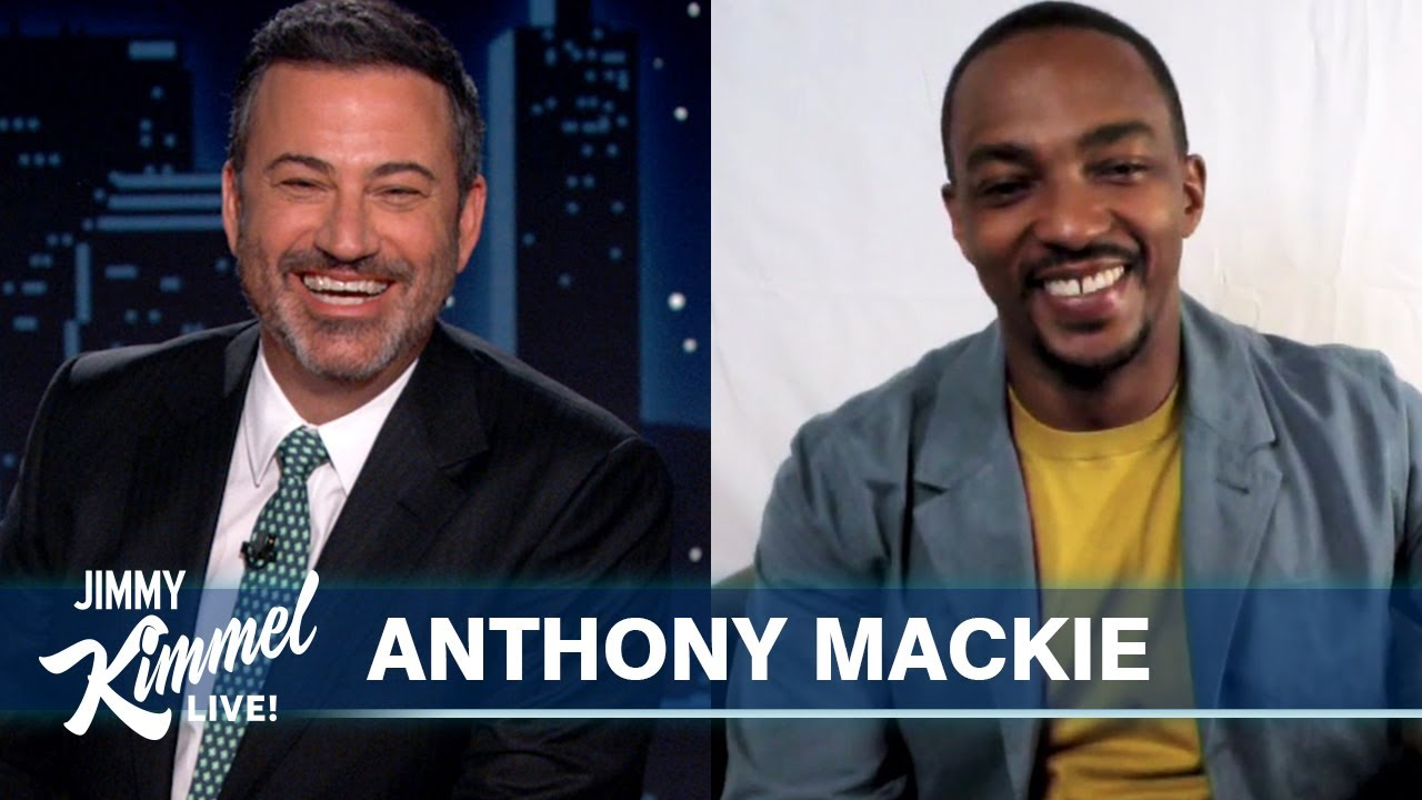 Anthony Mackie on The Falcon and the Winter Soldier & Captain America's Shield Handoff - Jimmy Kimmel Live