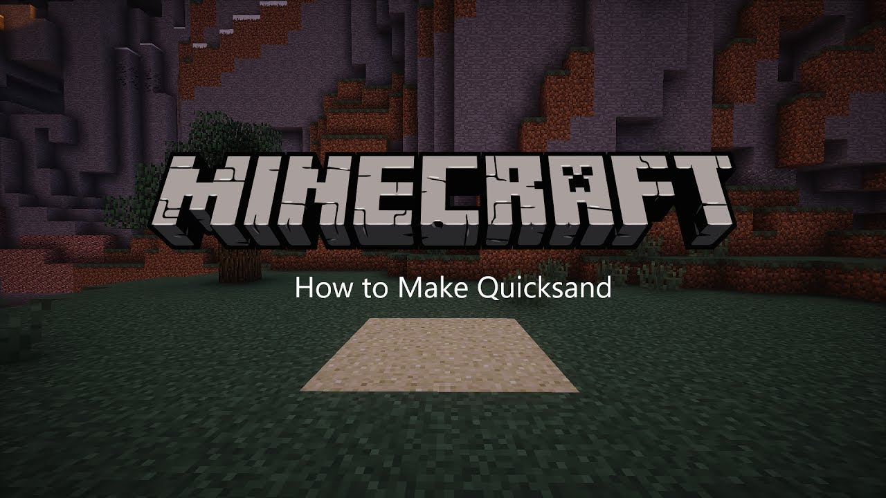 How to Make a Working Quicksand in Minecraft - YouTube