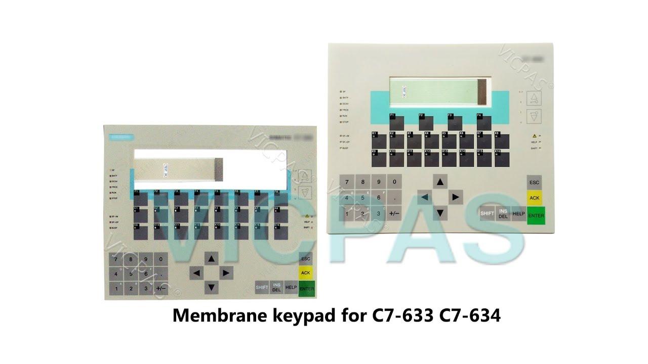 for SIEMENS SINUMERIK HT8 6FC5403-0AA20-1AA1 Membrane Keypad Screen Glass