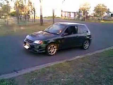 EP91 Toyota Starlet Anti-Lag Burnout
