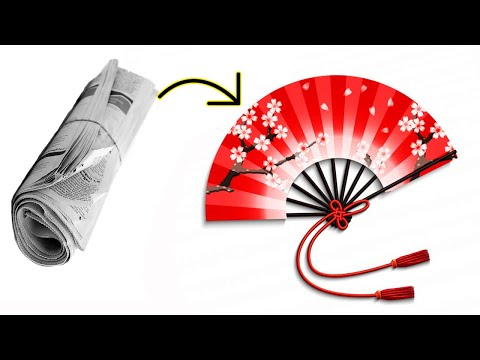 How to make diy hand fan out of color papers | DIY arts and crafts | DIY paper craft