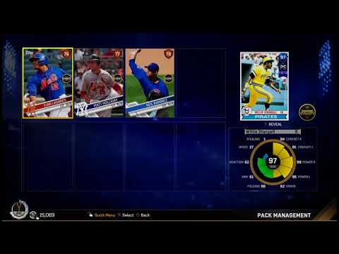 Mlb 17 Another Diamond pull 97 overall Willie Stargell back to back packs!!!