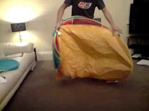 How to fold a Pop Up Sun Tent from Worlds Apart & How to fold a Pop Up Sun Tent from Worlds Apart - YouTube