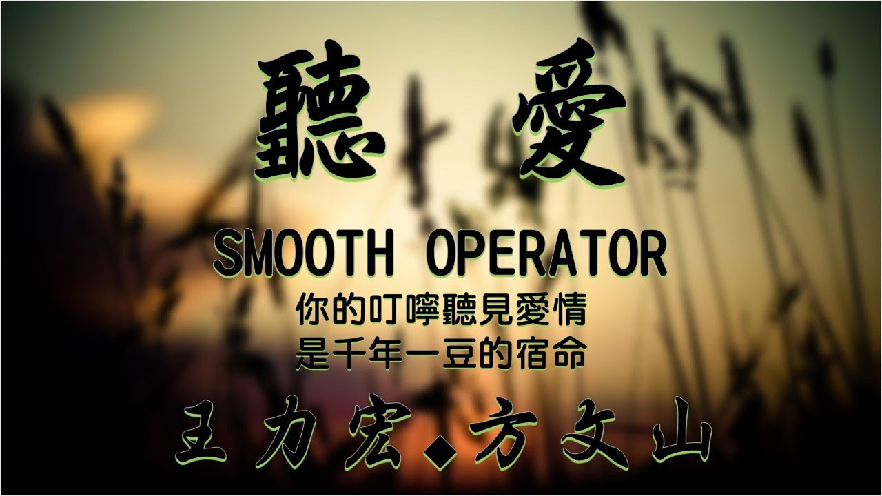 #3【華流世界好聲音】 聽愛 Smooth Operator - 王力宏+方文山 | 你的叮嚀聽見愛情 是千年一豆的宿命【情境動態中文歌詞】