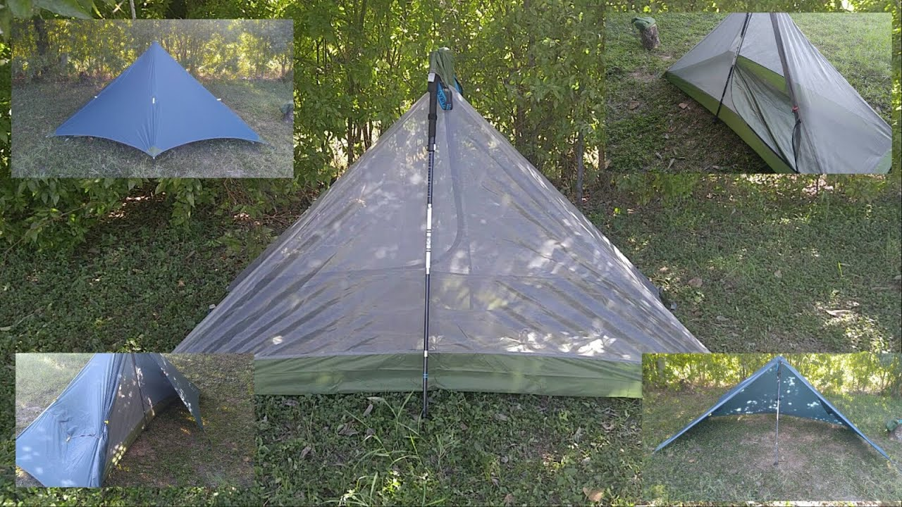 GEERTOP 1-Person 3-Season Trekking Pole Tent : one pole tents - memphite.com