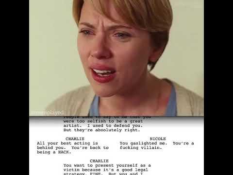 Download Golden scene in marriage story script to screen comparison