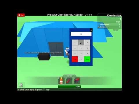 roblox wipeout obby code