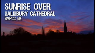 Sunrise over Salisbury Cathedral - BMPCC 6k