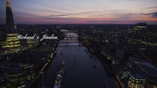Richard & Jimlim engagement proposal, 'say you won't let go' - London Bridge / The Shard
