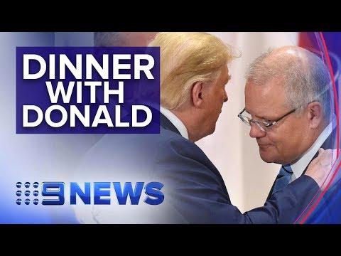 President Donald Trump invites Scott Morrison to U.S. for state dinner | Nine News Australia