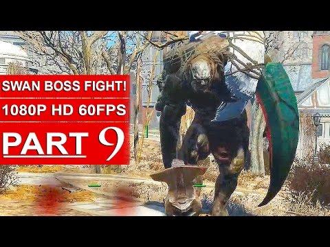 Fallout 4 Gameplay Walkthrough Part 9 [1080p 60FPS PC ULTRA Settings] - SWAN BOSS FIGHT