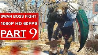 Fallout 4 Gameplay Walkthrough Part 9 [1080p 60FPS PC ULTRA Settings] - SWAN BOSS FIGHT