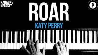 Katy Perry - Roar Karaoke SLOWER Acoustic Piano Instrumental Cover Lyrics MALE KEY
