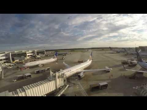 Timelapse 4k - Houston George Bush Intercontinental Airport (IAH)