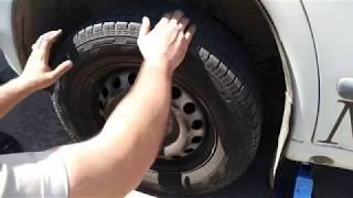 Замена тормозных дисков и колодок  передних Вито 638