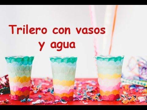 Trilero con vasos y agua three glass monte n - Vaso con agua ...