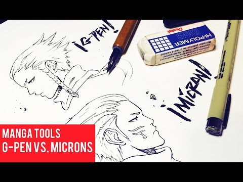 Difference Inking with G-Pens Vs. Microns