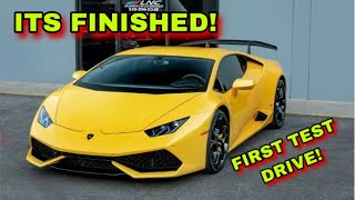 REBUILDING A WRECKED LAMBORGHINI HURACAN IS OFFICIALLY COMPLETE!!! PART 5