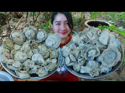 Yummy Sea Mushroom Cooking Fish Past – Sea Mushroom steaming – Cooking With Sros