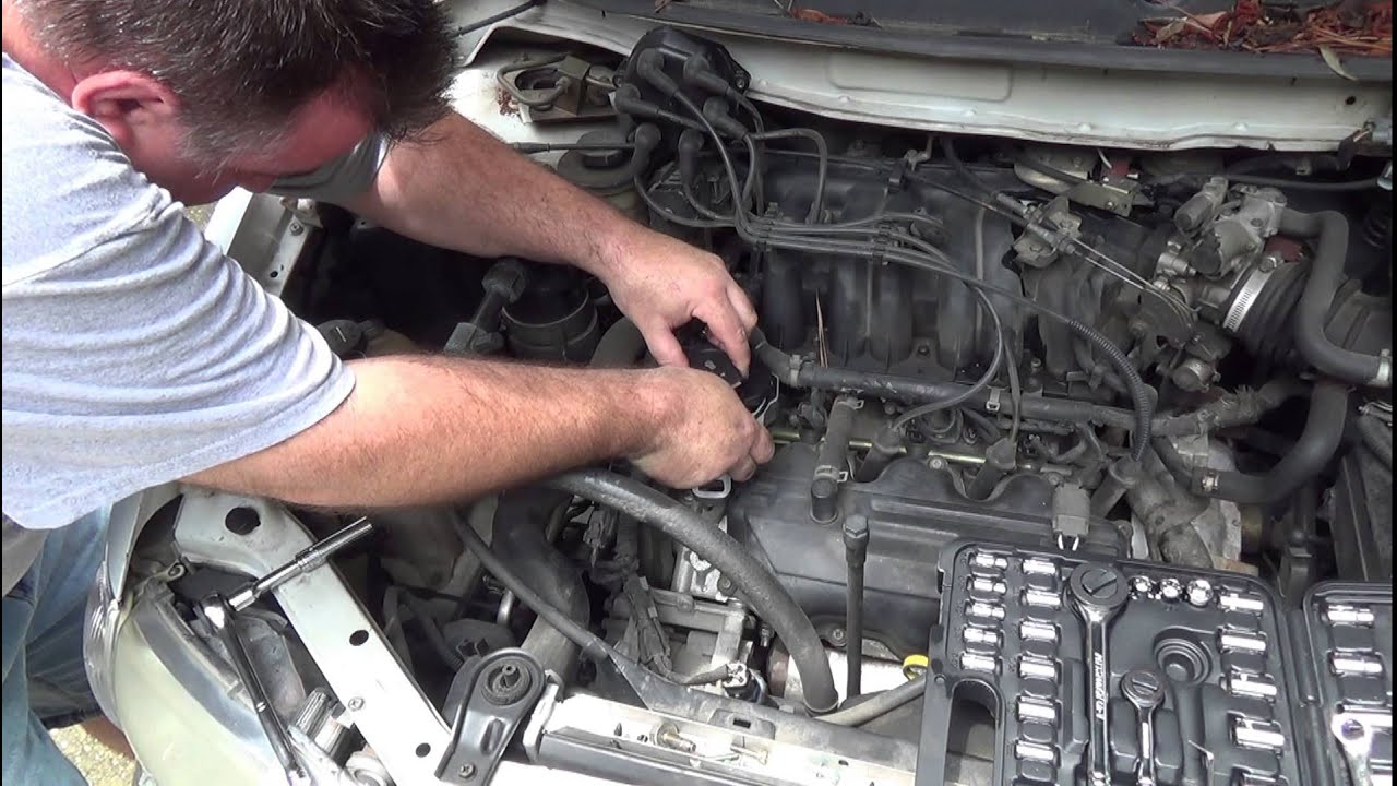 How To  Replace a Distributor in a Mercury Villager     Nissan       Quest     YouTube
