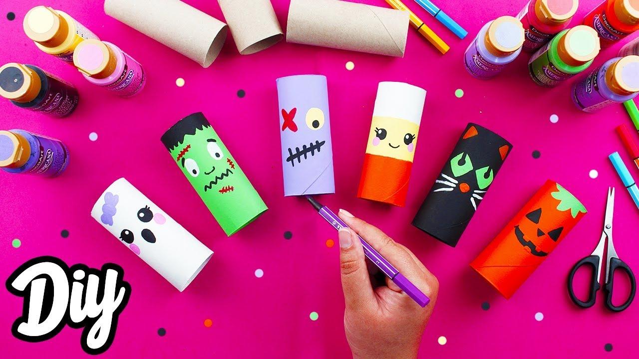 Diy Reciclaje Halloween Manualidades Con Rollos De Papel Higiénico Mery Youtube