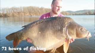 Carp fishing in France Cavagnac Lake Matt 'Tank' !!!!!  Stunning on his way to 70 lbs