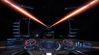 Elite: Dangerous PvP // Fight with Elpapo, Corvette vs. Cutter