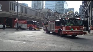 Chicago Fire Department Engine 42 Truck 3 (spare) Squad 1 & 2-7-1 Responding